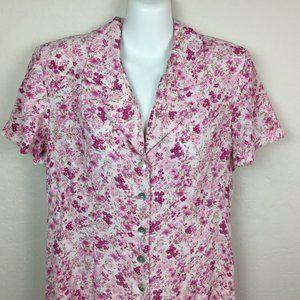 Dressbarn Pink Floral Maxi Long Dress Spring SZ 12